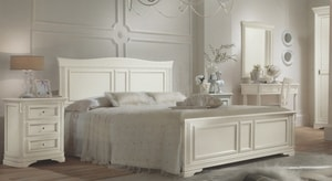 Postel manželská VENETE 180×200 bílá s patinou