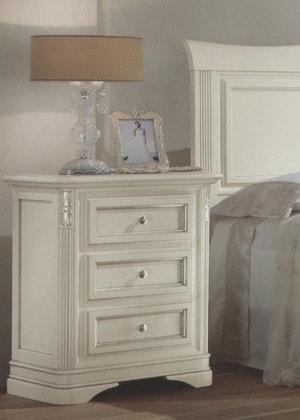 Noční stolek art.3622 bílá spatinou