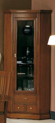 Rohová vitrína art.M2104-NA